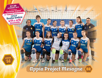 28 dicembre 2019. Foto: per VolleyFoto.it [riferimento file: 2019-12-28/U14-AppiaProjectMesagneBR]