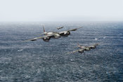 Mosquito fighter bombers over the North Sea