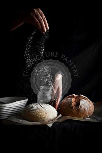 Sprinkling Flour on Sourdough