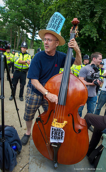 England, UK . 11.8.2013. Balcombe . Frack Free Sussex fracking protest against Cuadrilla test drilling which could lead to hy...