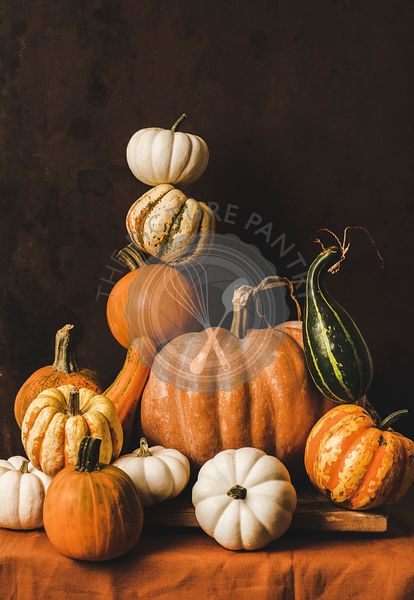 Pumpkins for Halloween or Thanksgiving Day Autumn holiday decoration