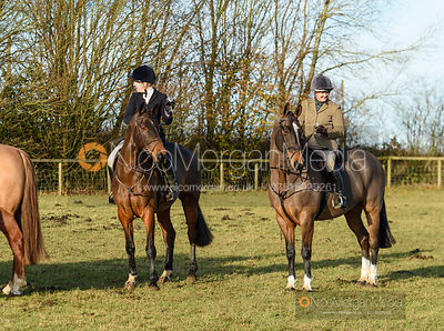 Rebecca Vernon at the meet. The Belvoir Hunt at Holwell 7/12