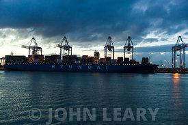 Southampton's Container Berth at Dusk.