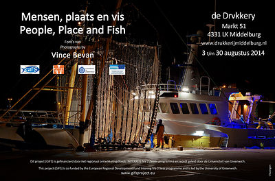 Poster for the 'People, Place and Fish'exhibition.