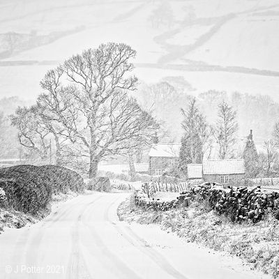 Snow in Farndale The North Yorkshire Moors UK