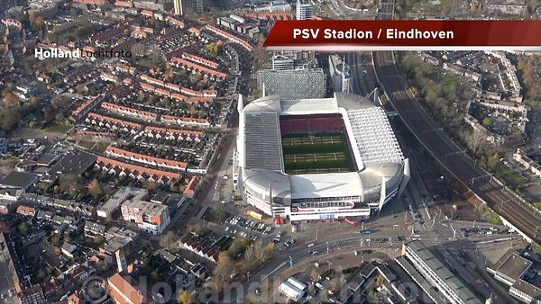 Luchtovideo PSV Stadion in Eindhoven
