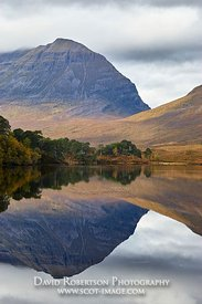 Image - Liathach reflected in Loch Clair, Torridon, Wester Ross, Highland, Scotland