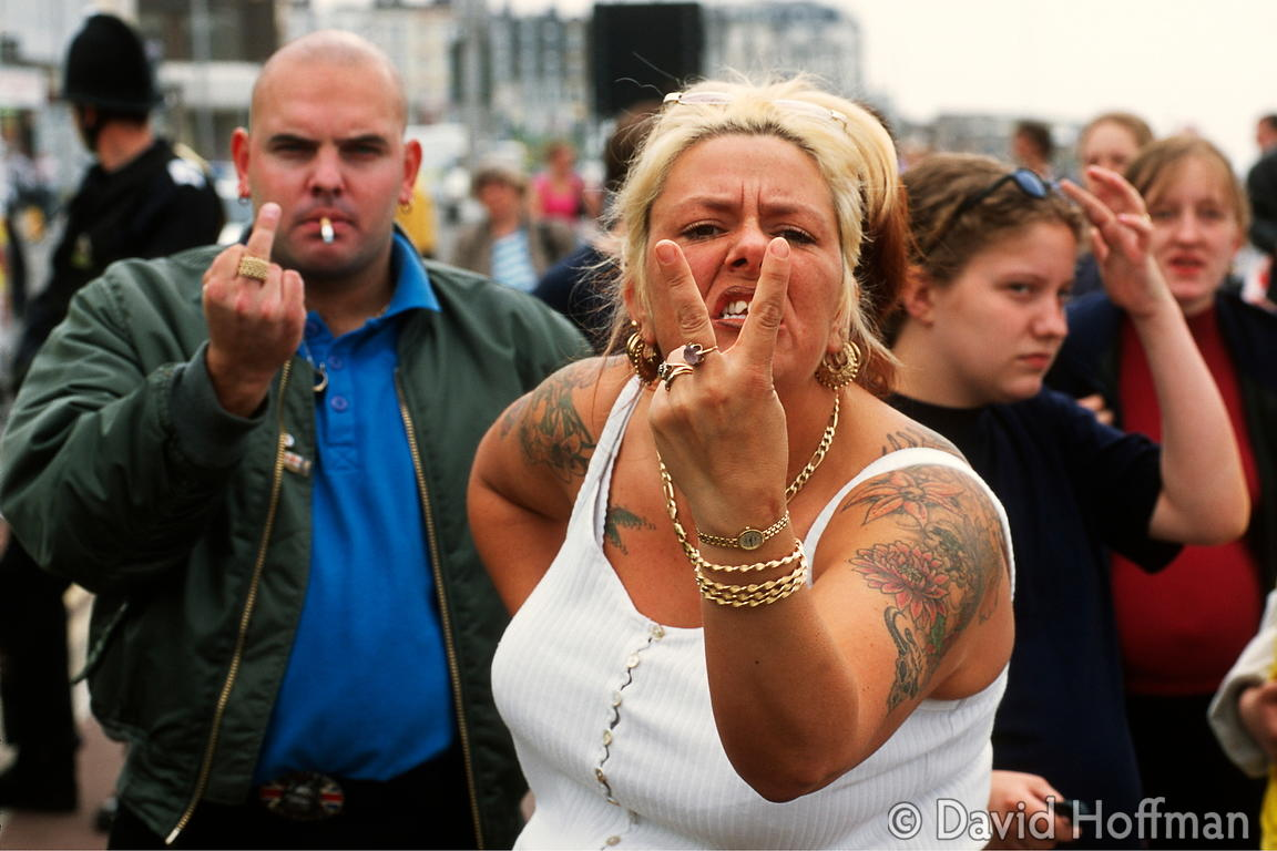 7.31/370 National Front supporters pose for a photograph. Margate, June 2000.