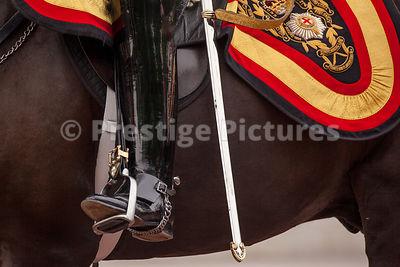 Detail of Boots and Sword worn by Life Guards Officer