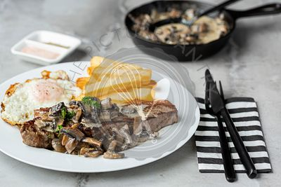Steak and Mushroom Meal