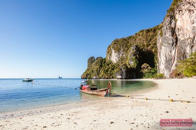 Longtail boat at Hong island, Railay, Krabi province, Thailand