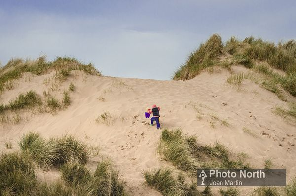 HAVERIGG 20A - Child in the sand dunes at Haverigg Beach