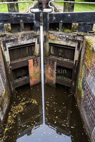 Lock 2 on the Montgomery Canal in Shropshire UK