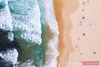 Drone view of Bordeira beach, Algarve, Portugal