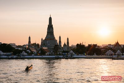 Sunset over Wat Arun, Bangkok, Thailand