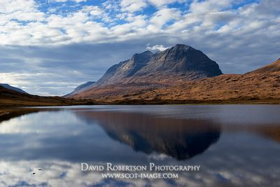Image - Liathach reflected in Loch Bharranch, Torridon, Wester Ross, Highland, Scotland