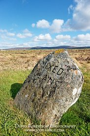 Image - Jacobite gravestone of Mixed Clans, Culloden  battlefield