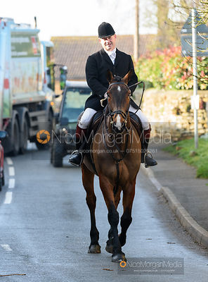 Ian Arthur at the meet. The Belvoir Hunt at Stonesby 5/2