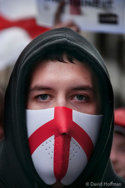 English Defence League march through Westminster. London 31 July 2010.