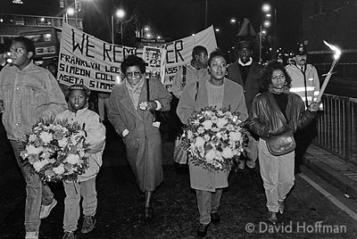 "YS21-4 ""We Remember"", an annual march to comemmorate unexplained deaths at the hands of the police. Stoke Newington, 12 Janua..."