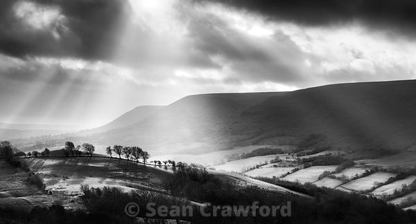 Dramatic Light over the Brecon Beacons