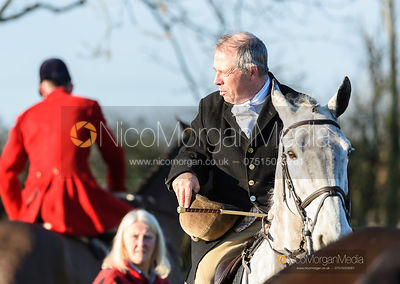 Graham Smith at the meet. The Quorn Hunt at Fox Covert Farm 10/1