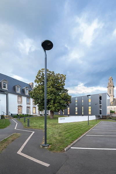 Rénovation-Extension Internat Lycée Porsmeur, Morlaix // Laurent GUYADER Architecte