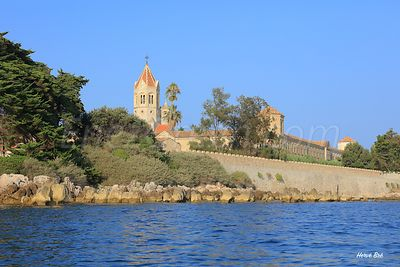 Lérins abbey on Saint Honorat island