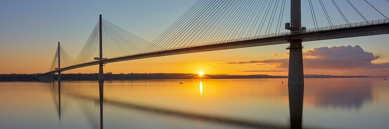 Image - Queensferry Crossing Bridge from North Queensferry, Fife, Scotland.
