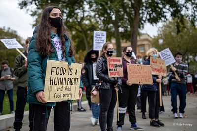 Free School Meals Protest