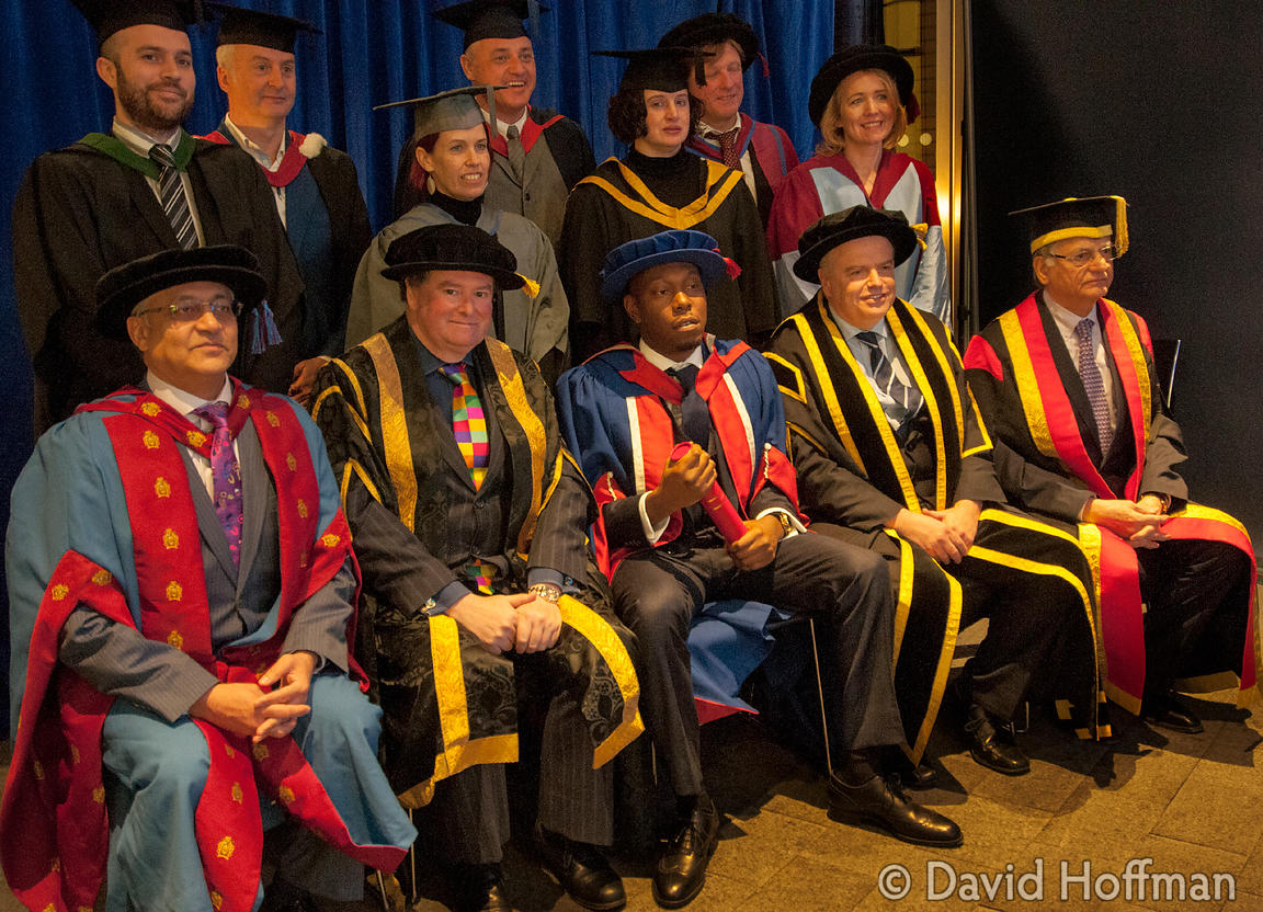 131121 UEL Hon Doc 041 Awards of Honorary Doctorates to David Hoffman and Dizzee Rascal by the University of East London at t...
