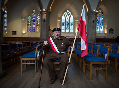 WW2 Polish war veteran  Ludwik Jaszczur who fought at the battle of Monte Cassino
