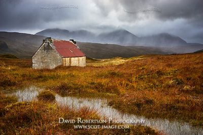 Image - Old house at Fain and An Teallach, Wester Ross, Highland, Scotland