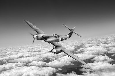 Westland Whirlwind portrait black and white version