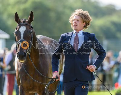 Ludwig Svennerstal and BALHAM MIST at the trot up, Land Rover Burghley Horse Trials 2019