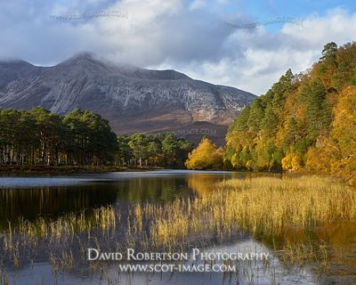 Image - Beinn Eighe and Loch Coulin in autumn, Torridon, Wester Ross, Highland, Scotland.