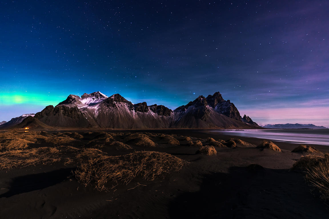 Nightscape of Vestrahorn