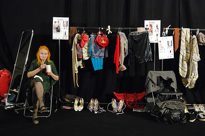 Photo Must Be Credited ©Jeff Spicer/Alpha 072369 20/09/2009 Vivienne Westwood backstage at the rehearsals for Vivienne Westwo...