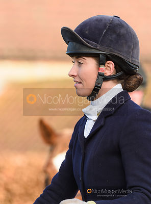 Harriet Rimmer at the meet. The Belvoir Hunt at Stonesby 5/2