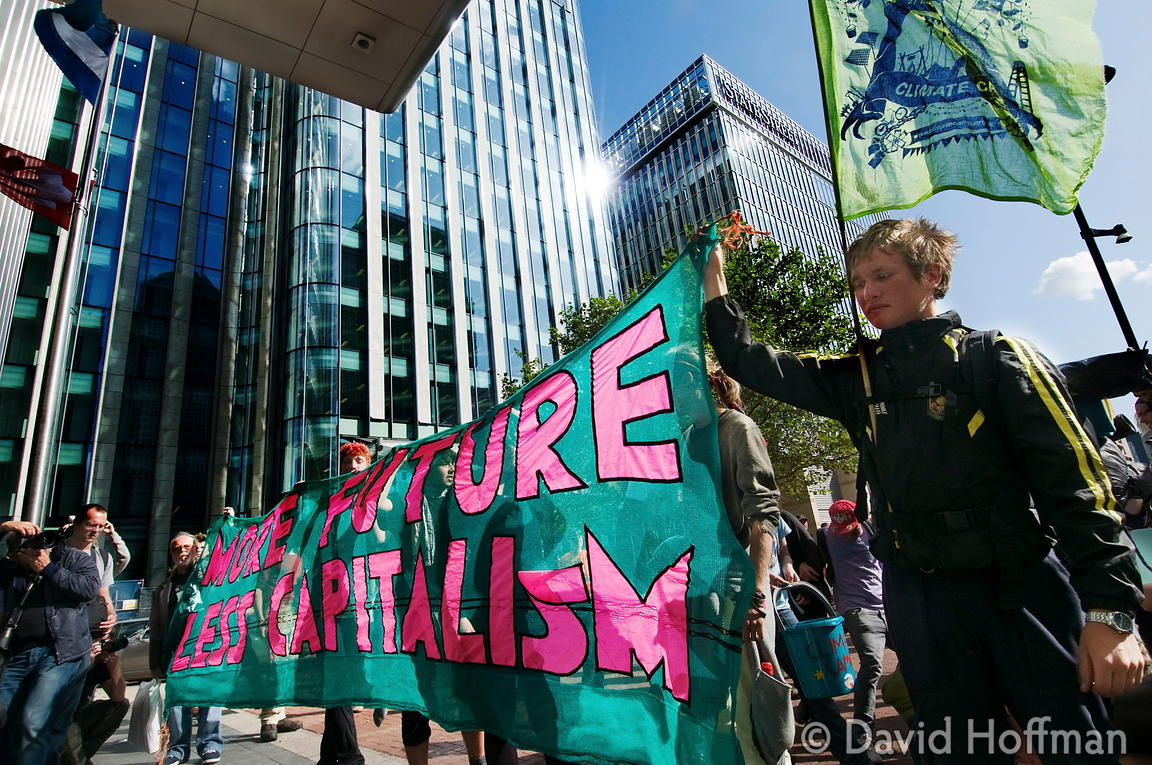 Climate Camp action against Barclays investment in arms trade and coal