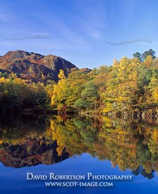 Image - Loch Katrine, Scotland, Autumn trees