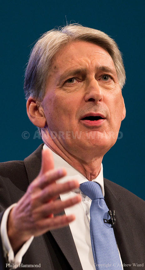 England, UK . 2.10.2017. Manchester . Conservative Party Conference, Monday. Philip Hammond.