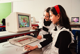 #4722,  The Computer lab, block C, The Lord Byron School, Leninakan (now Gyumri), Armenia.  At 11.41am on the 7th December 19...