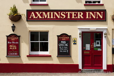 Pub in Axminster offering a safe place to leave your man while you shop