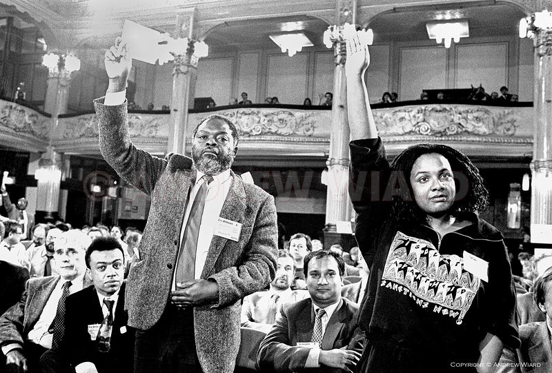 England, UK. 5.10.1988. Blackpool . The Labour Party's four black and Asian MPs, elected to Parliament in 1987, L-R Paul Boat...